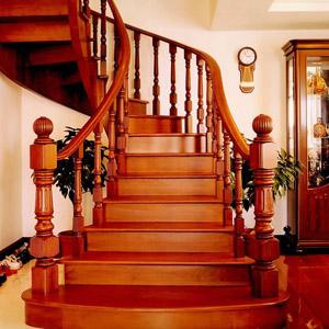 纯天然实木楼梯制造商山东厂家选正兴