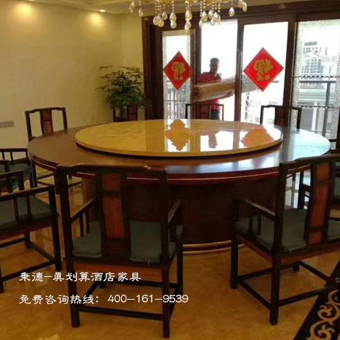 浙江酒店餐厅家具丨带自动旋转功能的餐桌丨厂家直销