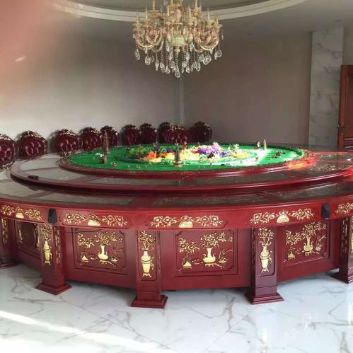 陕西电动餐桌,自动旋转餐桌,厂家供应,经久耐用