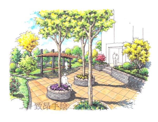 (1)景观园林手绘班:马克笔