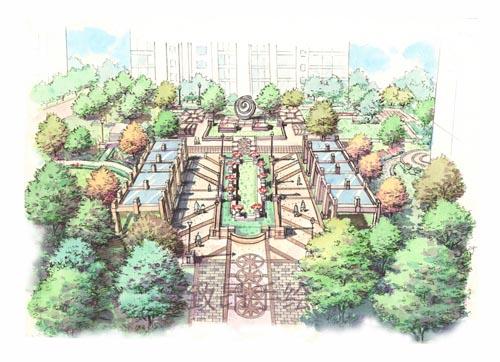 (1)景观园林手绘班:马克笔,彩铅,复印纸 硫.酸纸 草图纸 尺规