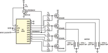 中运展示步进电机工作原理图