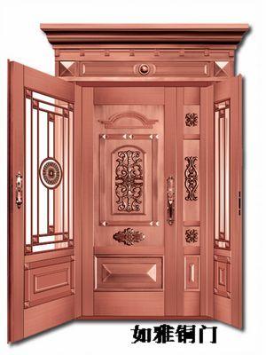旋转门豪华铜门|古典铜门|欧式铜门