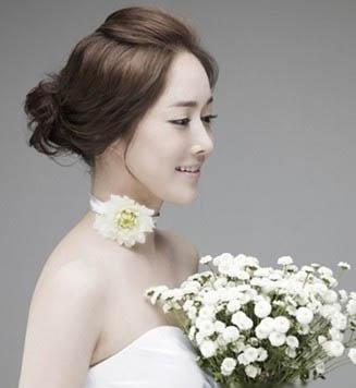韩式皇冠新娘妆发型高清 韩式 刘海新娘发型 韩式短发烫发发型女