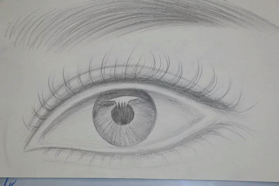 眼部素描步骤图解