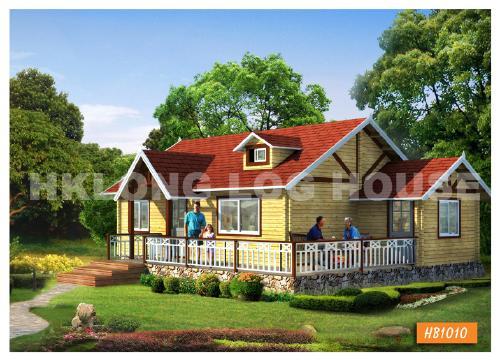 园林木屋休闲木屋 港龙木结构细节成就品质