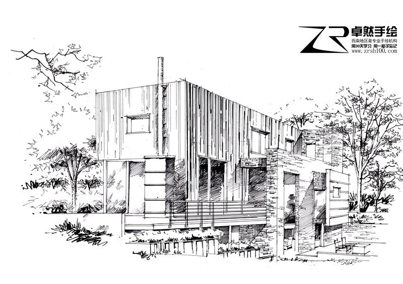 昆明建筑设计手绘培训哪家,卓然手绘培训你的选择