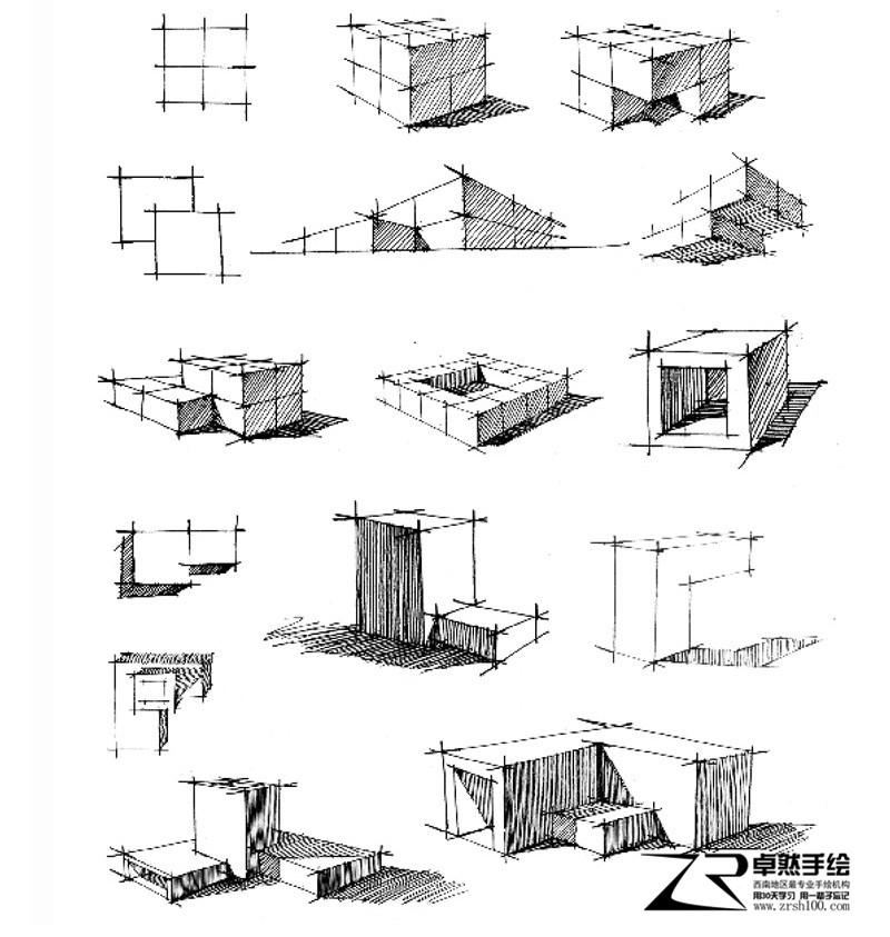 【卓然手绘】建筑手绘作品