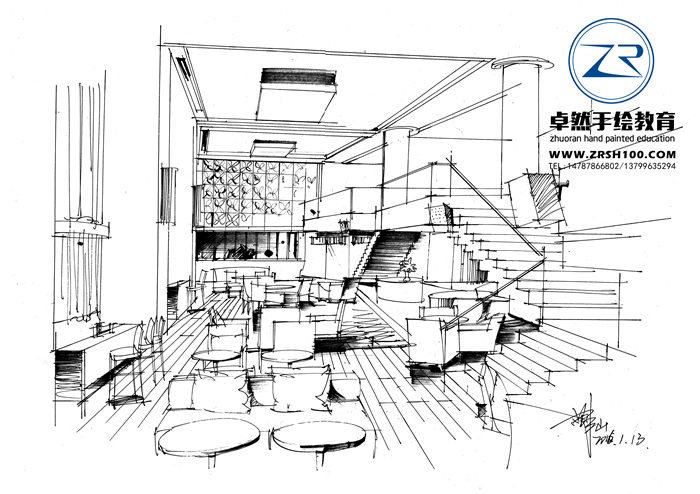 云南室内设计手绘培训哪家好,昆明卓然专业室内设计.
