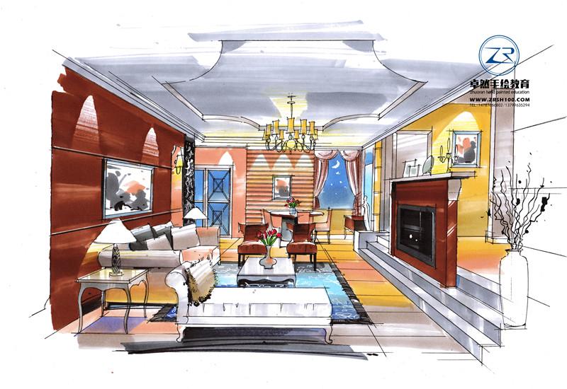 室内设计手绘手绘去哪里学,昆明手绘——卓然.