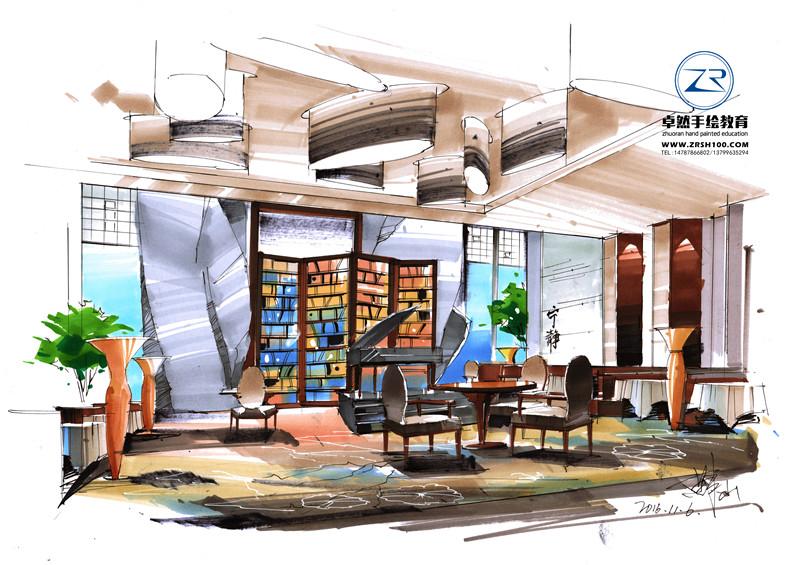 昆明手绘培训中心哪家能实现迅速室内设计手绘练习?