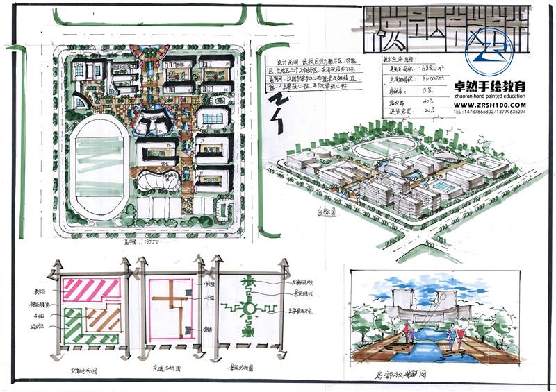 云南城市规划手绘培训哪里有,昆明有卓然手绘专业高效
