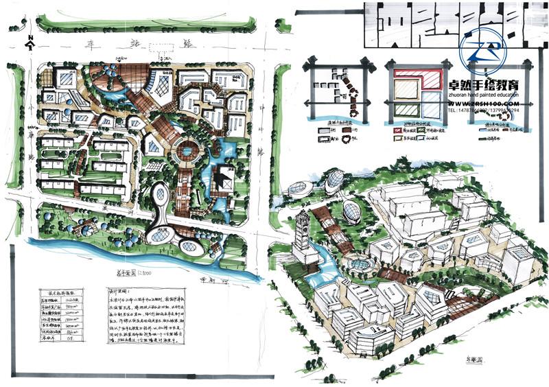 云南城市规划手绘培训中心哪里有,来昆明卓然学好手绘