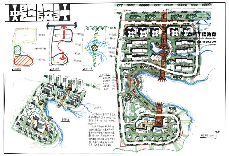 昆明城市规划手绘培训中心好好就业的是哪家,来卓然.