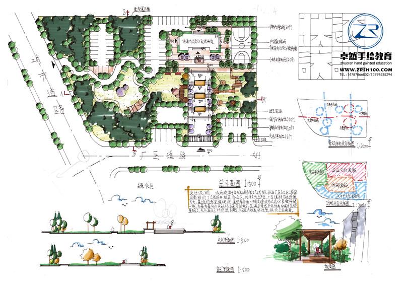 """在""""新中式""""景观设计中采用以上传统符号用抽象或简化的手法来体现中国"""
