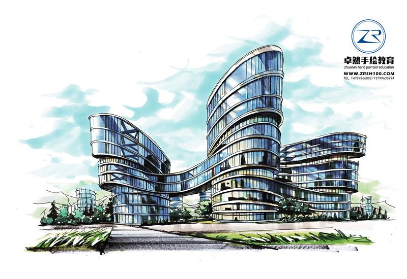 学景观建筑设计手绘,昆明卓然培训学校适合所有学员.
