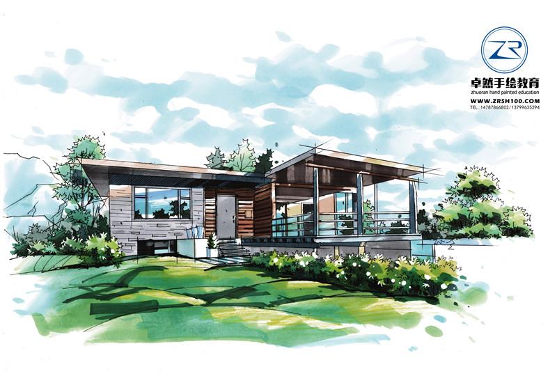 云南景观建筑手绘设计培训哪里好,报名选昆明卓然学校