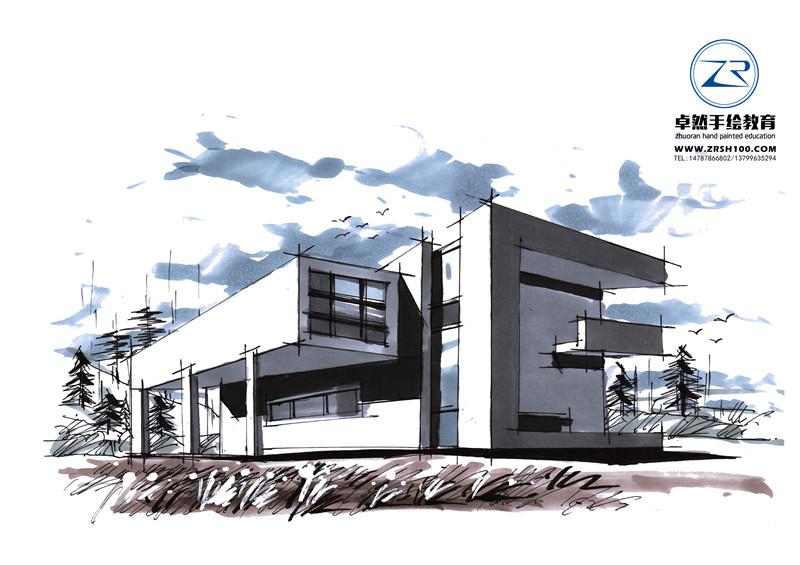 学景观建筑手绘哪里学好,卓然品质教学好.