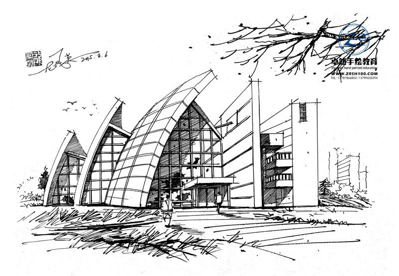 昆明建筑手绘效果图学习来卓然针对性完善教学.