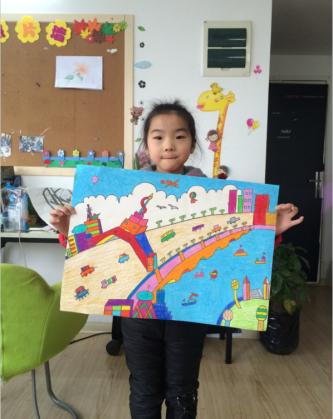 南京石鼓路儿童画培训基构当选南京中山书画院儿童画