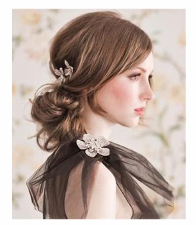 5款森女系新娘发型 带你走进纯净自然