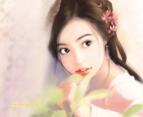 韩式另类手绘女生头像