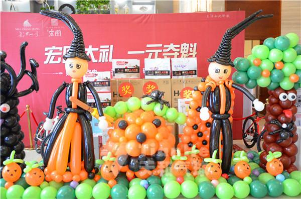 万圣节气球装饰,万圣节气球布置,商场气球策划