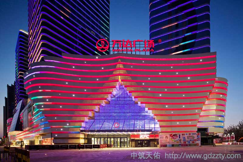 购物中心灯光照明亮化设计欣赏 夜景照明设计-银川西夏万达广场