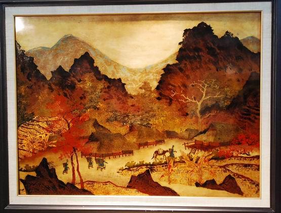 手绘墙画起源于油画.