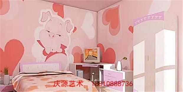 幼儿卧室手绘壁画