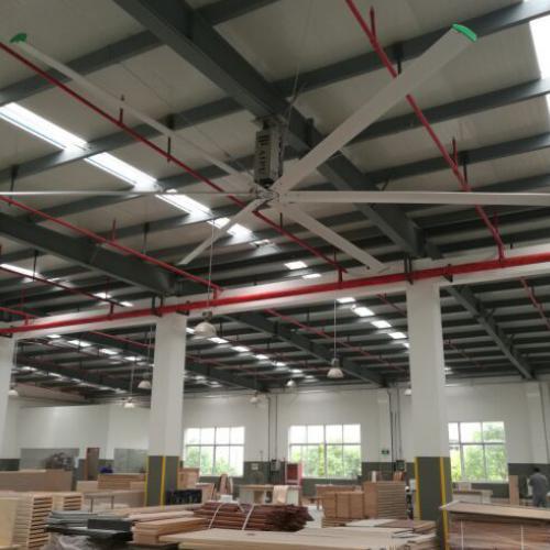 厂房安装5米大吊扇 优质大型吊扇厂家