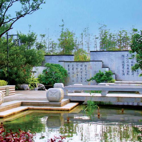 溧水中式别墅庭院景观设计v别墅有哪些?绍兴别墅香山图片