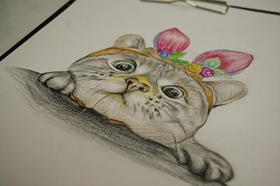 手绘效果图室 内 彩铅