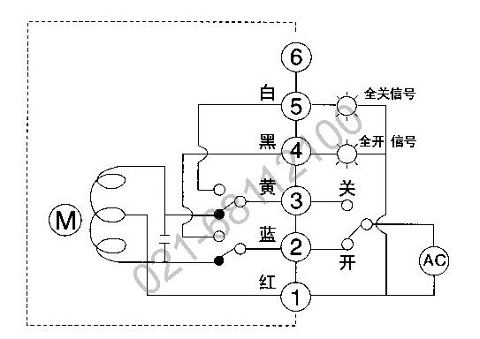 电动蝶阀执行器接线图图片