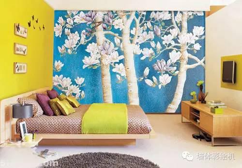 卧室墙体彩绘素材