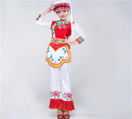 咸阳民族舞服饰白族 壮族等民族服装出租舞蹈服装租赁