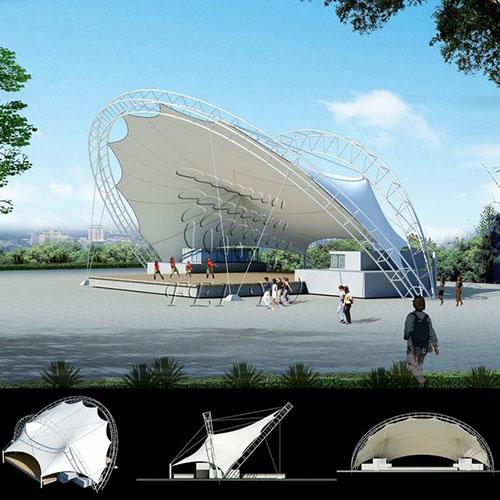 房产建筑  膜结构工程的应用范围 体育设施:体育场,体育馆,健身中心
