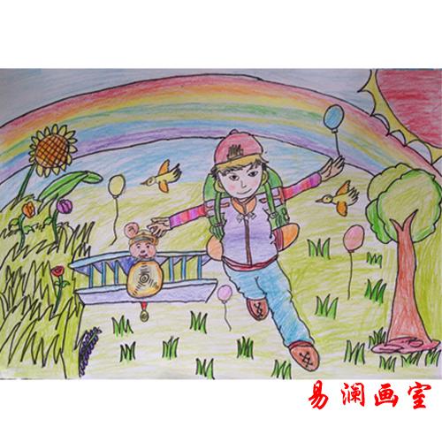 儿童彩铅画
