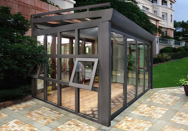 惠州哪里可以定做铝合金阳光房 我推荐万福门窗厂家