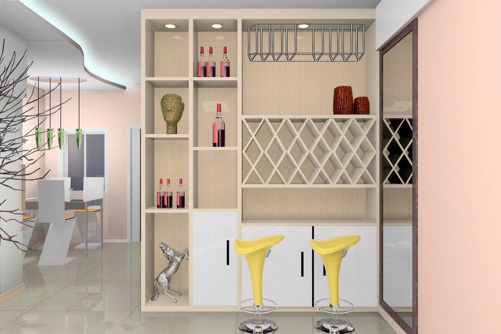 酒柜定制设计需看房屋的结构