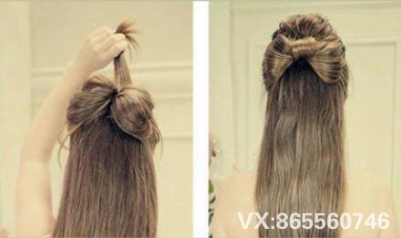 发型造型蝴蝶结法相扎法教程-北京vr化妆培训