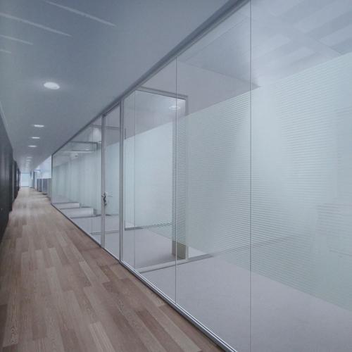 不锈钢边框玻璃隔断