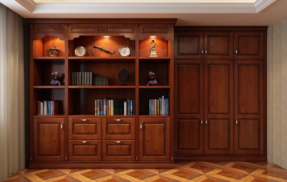 画有书柜的房间图片