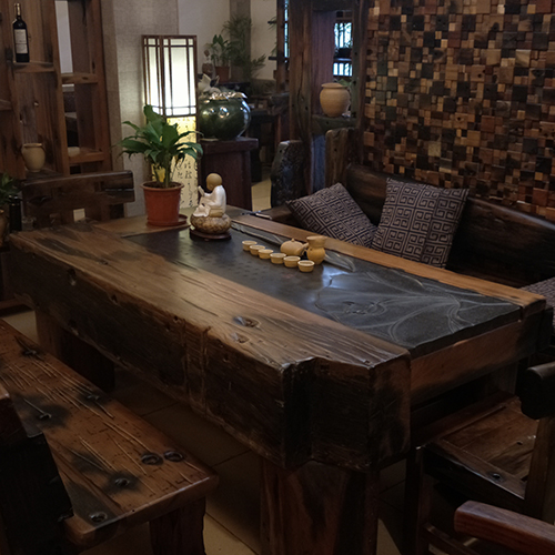 天津老船木茶桌|老船木沙发定做|欢迎来电咨询