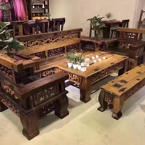 江苏权威的老船木茶桌椅制造商|信赖胜屿船木家具