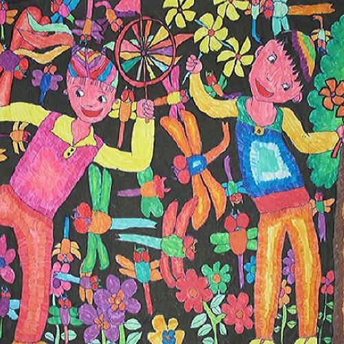 儿童绘画作品植物