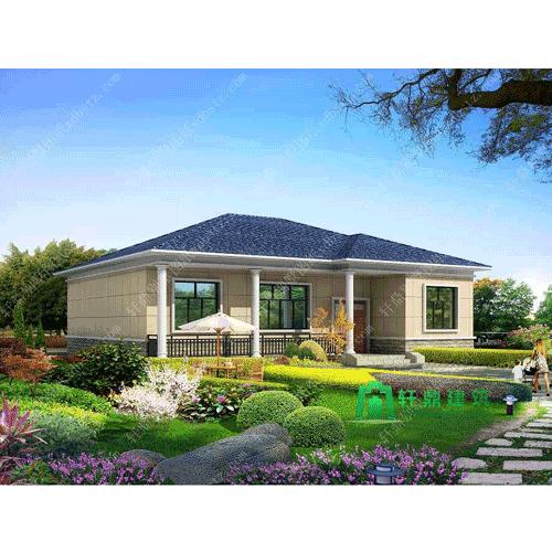 14x12米一层农村房子设计图