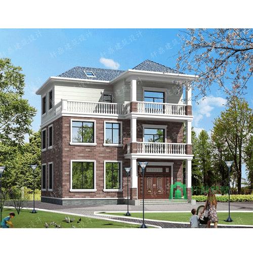 三层别墅设计图中式田园风