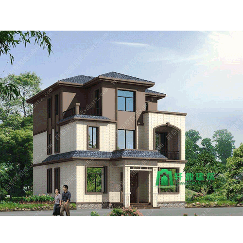 占地120平新中式三层别墅设计图