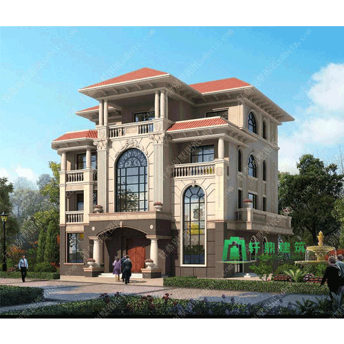 北京专业农村两层半别墅设计图效果图_轩鼎别墅设计